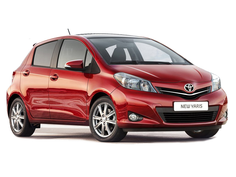 <strong>Toyota Yaris</strong> (red) <br>1.3 Petrol MT